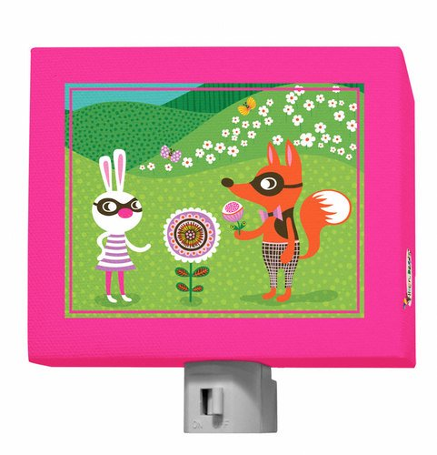 """Oopsy Daisy Funky Woodland Creatures Night Light, Girl, 5"""" X 4"""" front-634203"""