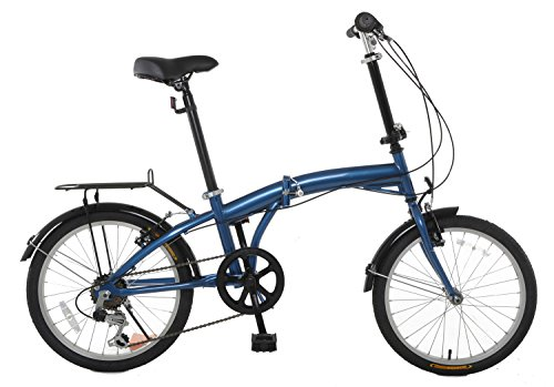 "Check Out This TEMPEST 20"" Folding Bike Shimano 6 Speed - Rear Rack & Fenders"