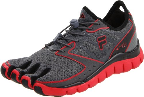 Fila Men's Skele-Toes Amp Shoe,Pewter/Black/Chinese Red,10 M US