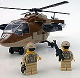 Modbrix 2329 - ★ US ARMY Black Hawk Hubschrauber inkl. custom US Special Forces Soldaten aus original Lego© Teilen ★ thumbnail
