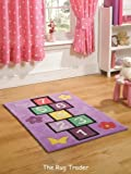Kiddy Play Hopscotch Lilac Rug 110cm x 160cm