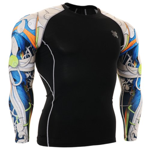 Fixgear Mens Womens Sport Under Compression Base Layer T Shirt Long Sleeve S