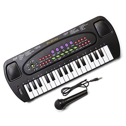 hawkin-tobar-childrens-musical-electronic-karaoke-keyboard-32-keys-with-microphone