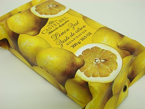Castelbel Porto Lemon Zest Luxury Bath Bar 10.5 Oz Gift Wrapped by Castelbel Porto