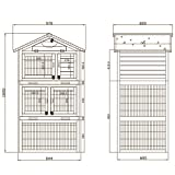 Hasenstall Hühnerstall Kleintierstall Kleintiergehege Hasenkäfig Kaninchenstall Tierkäfig Holzstall Domino -