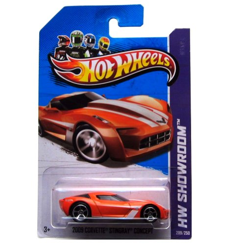 Hot Wheels 2013-209 HW Showroom Classic 2009 Corvette Stingray Concept ORANGE 1:64 Scale - 1