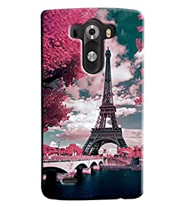 Blue Throat Eiffil Tower Paris Beauty Printed Designer Back Cover/ Case For LG G3