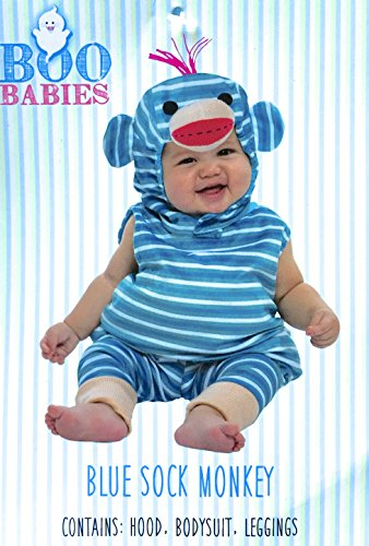 Infant Blue Sock Monkey Costume, 9-18 Month