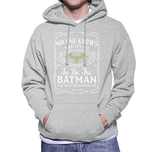 No One Knows What Its Like to Be The Batman Whisky White Mashup Men's Hooded Sweatshirt