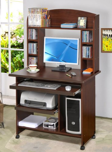 Buy Low Price Comfortable Beautiful Computer Desk in Walnut Finish #PD F41248 (B004HGWVSC)