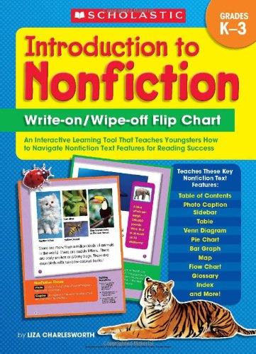 Introduction to Nonfiction Write-on/ Wipe-off Flip Chart: An Interactive Learning Tool That Teaches Young Learners How to Navigate Nonfiction Text Features for Reading Success (Phonic Flip Chart compare prices)