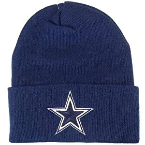 NFL Reebok Dallas Cowboys Navy Basic Knit Beanie