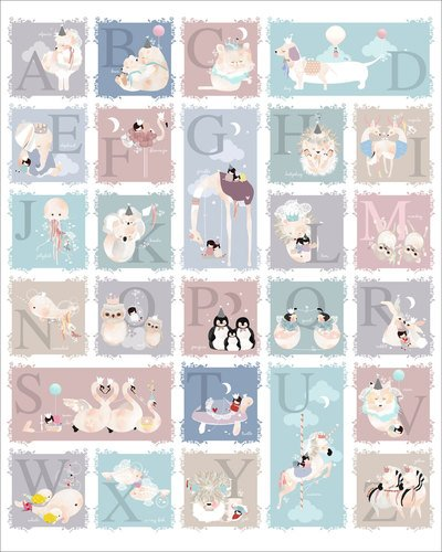 Oopsy Daisy Delicate Creatures Alphabet By Schmooks Canvas Wall Art, 24 By 30-Inch