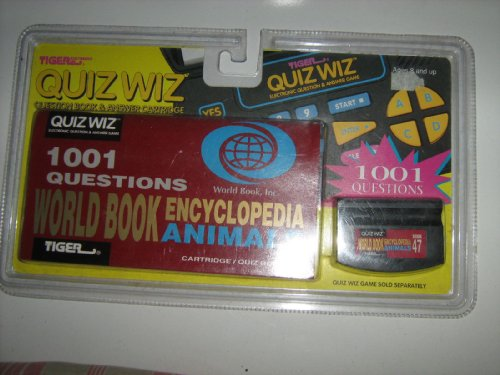 New TIger Electronics QUIZ WIZ Question Book & Answer Cartridge-ANIMALS - 1