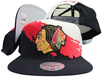 Chicago Blackhawks Snapback Adjustable Plastic Snap Mitchell & Ness Hat Cap by Mitchell & Ness