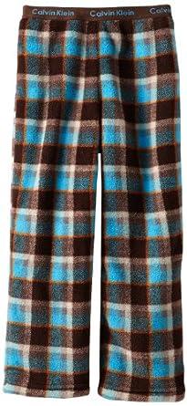 Calvin Klein Boys Ck Big Plaid Pant, Brown, X-Small/5-6