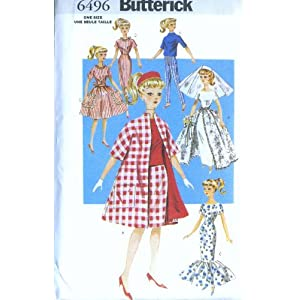 Pattern McCall's Doll Clothes, Butterick items in Wild Rose
