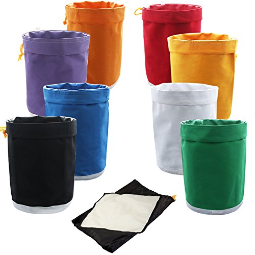 VIVOSUN 1-Gallon 8-Bag Herbal Ice Bubble Hash Bag Essense Extractor Kit Filtration Bags/Set (Dry Ice Bags compare prices)