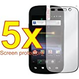 5x Samsung Nexus S 4G Google 2 TWO i9020 Premium Clear LCD Screen Protector Cover Guard Shield Film Kit