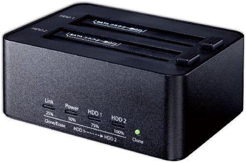 玄人志向 HDDスタンド PCレスでクローン/HDD内データ完全消去機能付 KURO-DACHI/CLONE+ERASE/U3