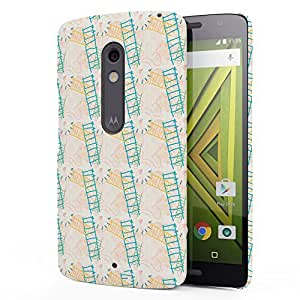 Koveru Designer Printed Protective Snap-On Durable Plastic Back Shell Case Cover for Motorola Moto X Play - Space Blossom