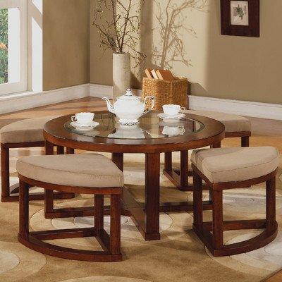 Patia Coffee Table Set Finish: Cherry
