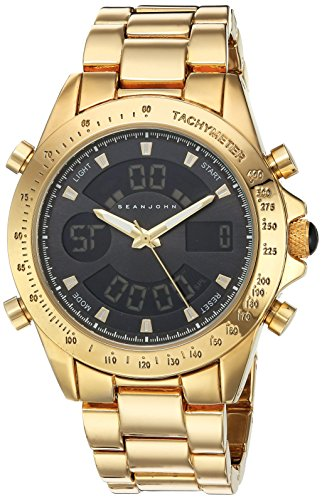 Sean-John-Mens-Classic-Quartz-Metal-and-Alloy-Casual-Watch-ColorGold-Toned-Model-10030884