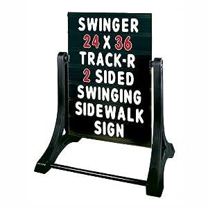 SWINGER® Standard Message Board Sidewalk Sign - Black