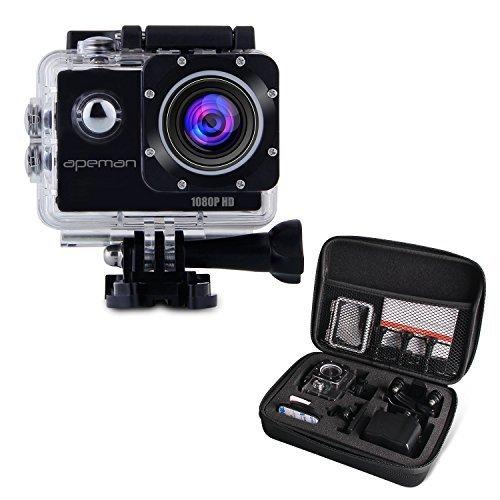 APEMAN-Full-HD-Action-Kamera-1080P-Sports-Camera-Cam-170-Weitwinkel-Objektiv-mit-Transporttasche-und-Zubehr-Kit