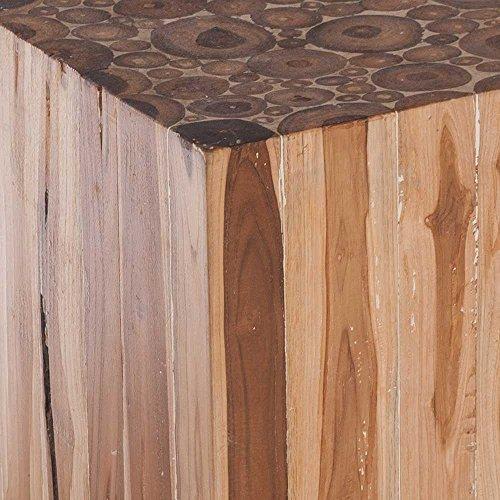 beistelltisch aus holzblock teak massiv pharao24 com forafrica. Black Bedroom Furniture Sets. Home Design Ideas
