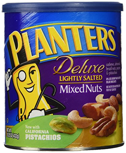 Planters Deluxe Mixed Nuts, Lightly Salted, 15.25 Ounce (Deluxe Salted Nuts compare prices)