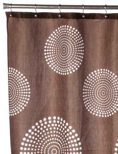 Popular Bath Fabric Shower Curtain Liner - Brown