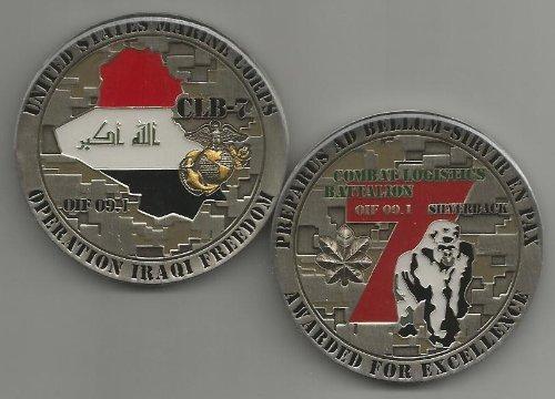 US Marine Corps 7th Combat Logistics Battalion OIF Challenge Coin