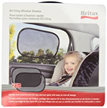 Britax EZ-Cling Sun Shades Black 2 Count