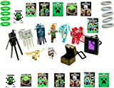 Ultimate Minecraft Gift Set ~ 14 Stickers ~10 Wristbands ~ Complete Set Series 2 Hangers