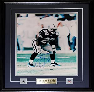 Emmitt Smith Dallas Cowboys Signed 16x20 frame by Midway Memorabilia