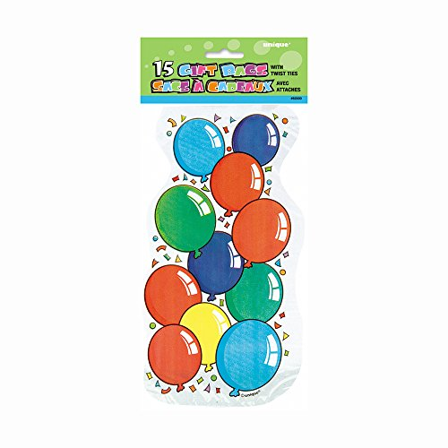Shaped Balloon Party Cellophane Bags, 15ct - 1