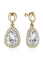 Saint Francis Crystals Pendientes Metal Dorado / Transparente