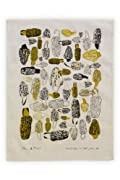 Nell and Mary Morels Organic USA-made Tea Towel (Gold)