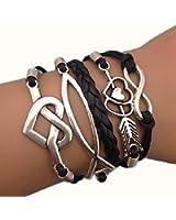 Fabulous Bracelet infinity infini cœur noir kamra hunger games fleche noir