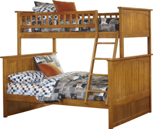 White Bunk Bed Twin Over Full 192 front