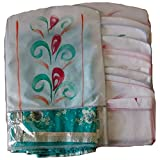 Transparent Printed Non Woven Hanging Saree Cover - Set of 10