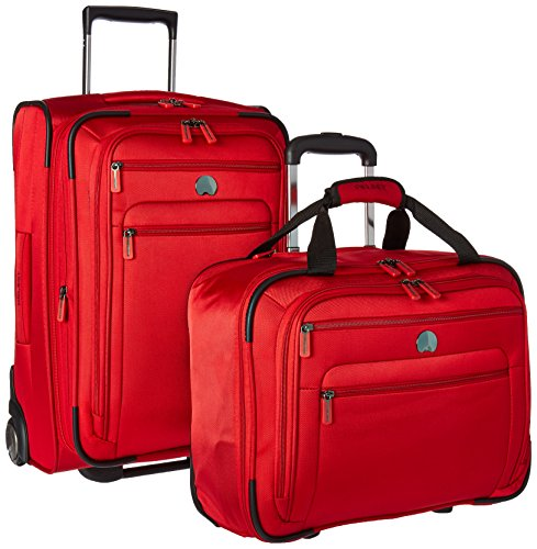 Delsey Luggage Helium Sky 2.0 Two Piece Carry On Set, Red (Spinner Trolley Tote compare prices)