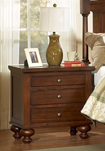 Aris Nightstand By Homelegance In Brown Cherry front-685473