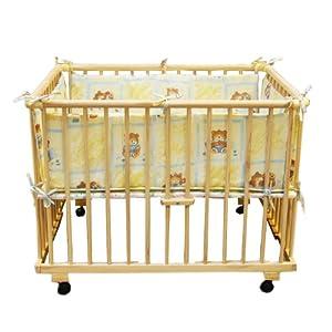 Playpen rectangular + insert yellow from Bambino World