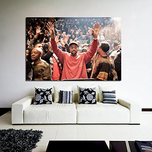 Galleon Poster Mural Kanye West Madison Square Garden 40x58 In 100x147 Cm Adhesive Vinyl