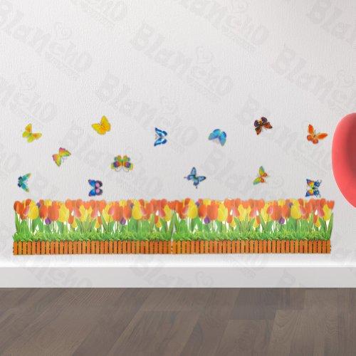 butterfly-plantes-et-arbustes-wall-stickers-autocollants-appliques-decoration
