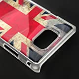[Casemaster]Retro Union Jack Pattern Protective Hard Back Case Cover for Samsung Galaxy S2 i9100 With Screen Protector