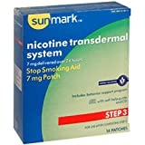 Sunmark Nicotine Transdermal System, Step 3 7mg box of 14 patches, Habitrol Take Control system