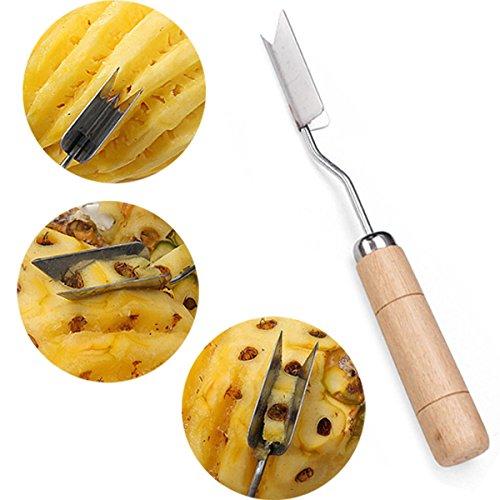 2Pcs V Shape Stainless Steel Pineapple Eye Peeler Remover (Pineapple Eye Remover compare prices)